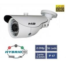 Câmera FullHD 4x1 AHD CVI TVI CVBS 1080P 2MP IR35M OSD HB783