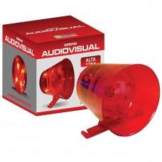 Sirene Audio Visual Ipec Vermelha Alta Potência